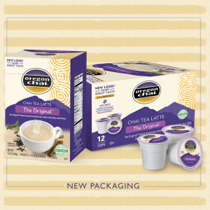 The best looking chai in the (tea) house. Oregon Chai's new packaging is here.