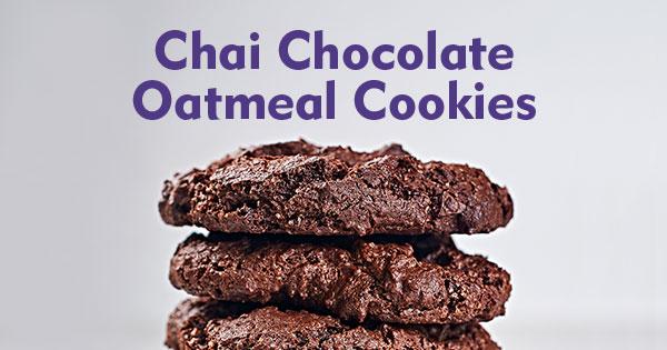 Chai Chocolate Oatmeal Cookies