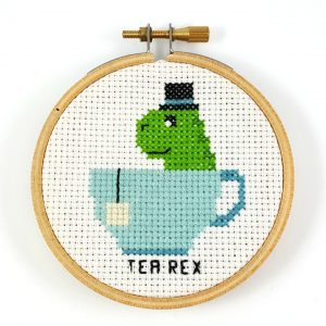 Tea Rex Cross Stitch